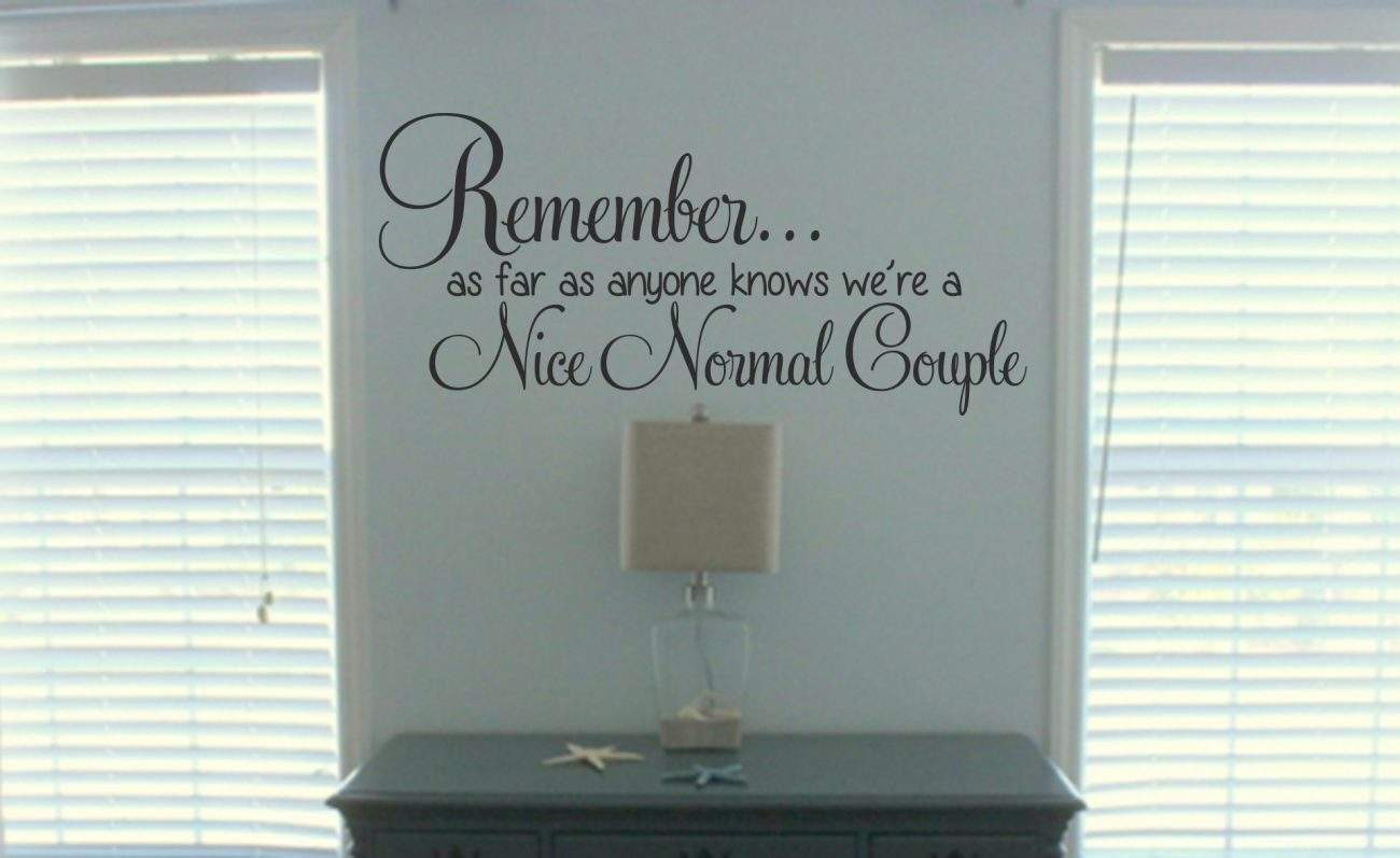 Nice normal couple wall decal sticker