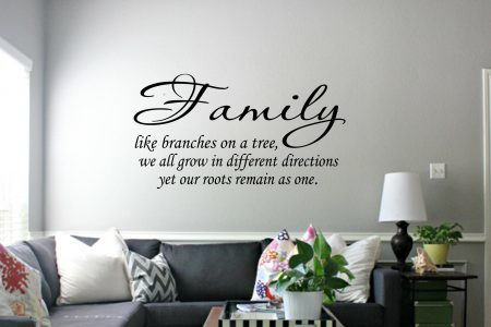 Family like branches - wall art decal sticker Family wall decals