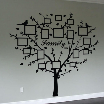 Family tree quote and decal frames