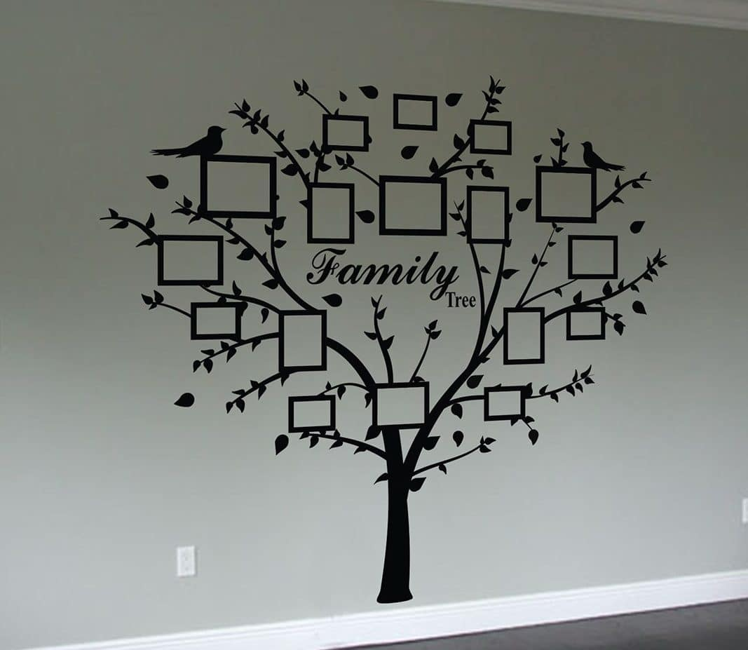Family tree quote and decal frames | wall art decal sticker