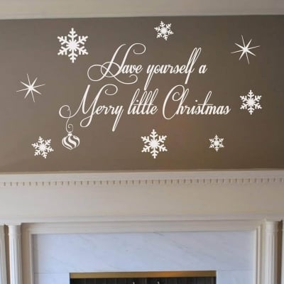 Merry Christmas wall art decal sticker