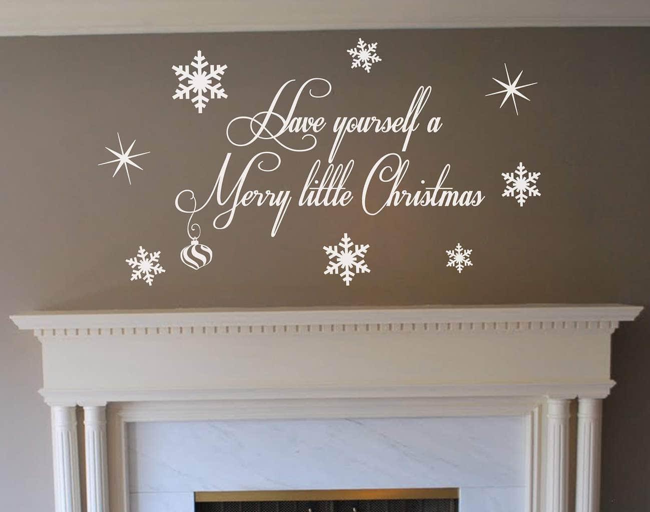 Merry Christmas wall art decal sticker