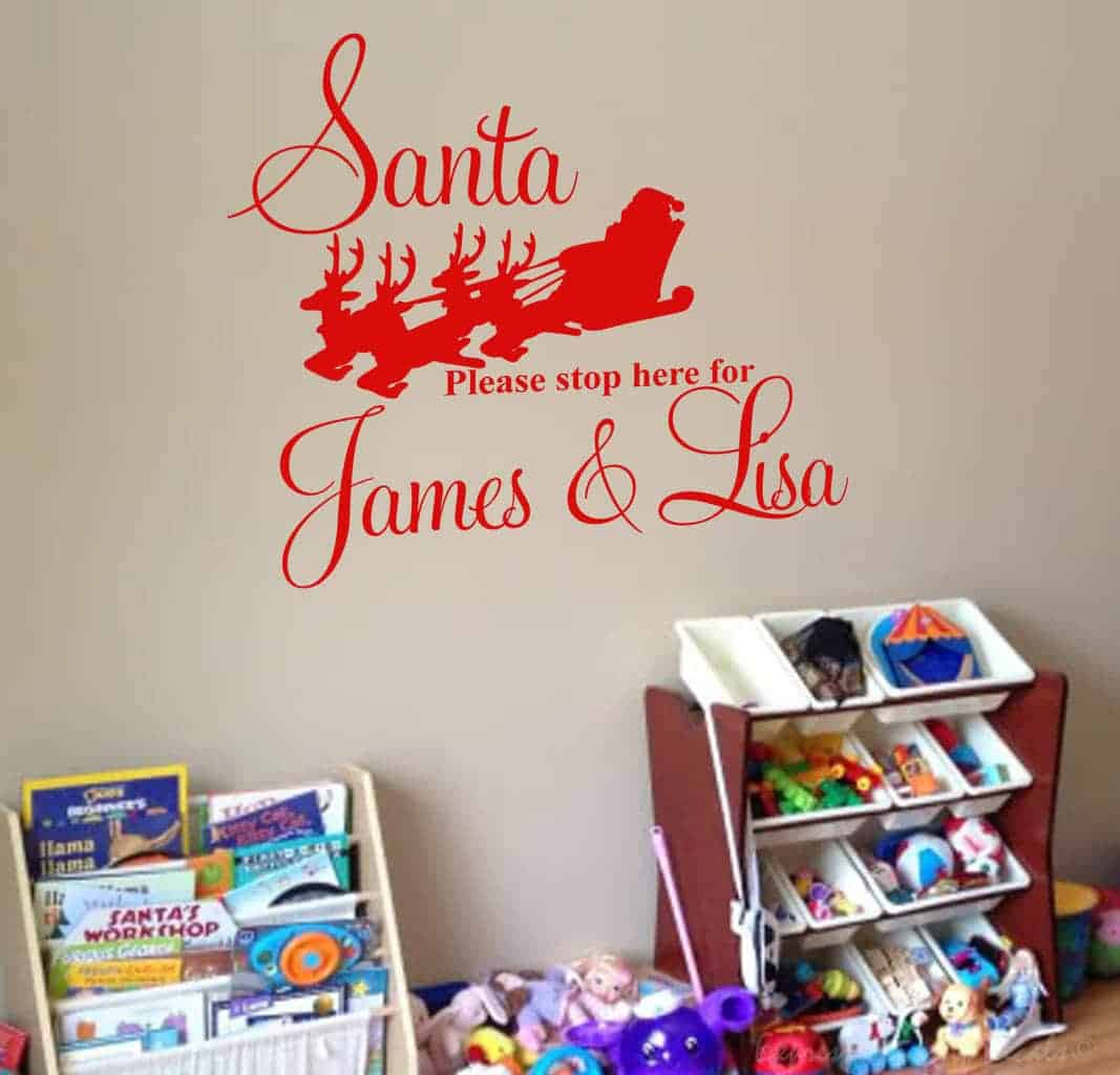 Santa personalised decal sticker