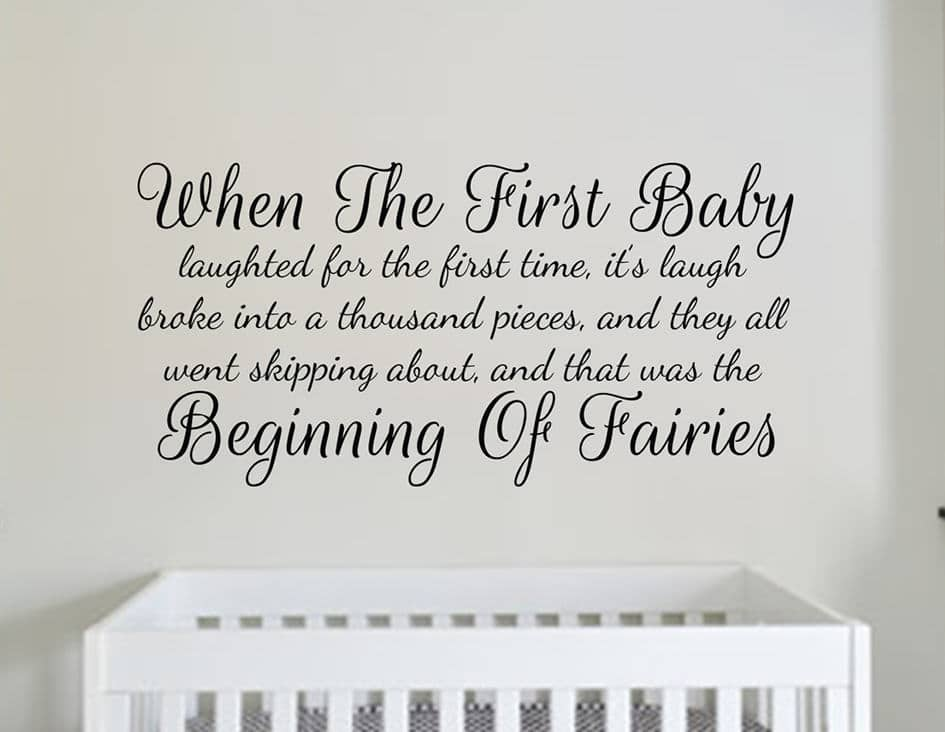 Peter Pan first baby laughed decal sticker