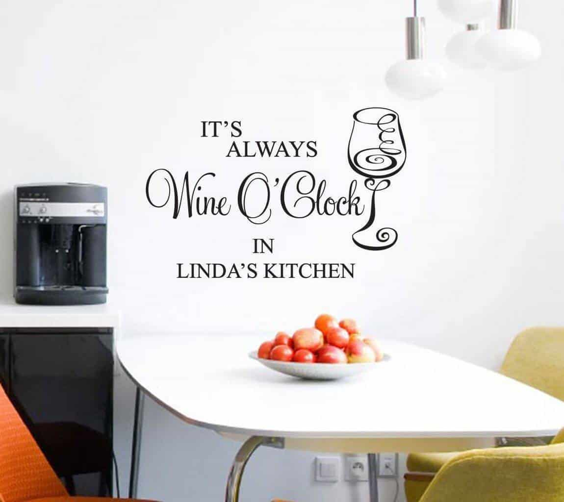 Wine wall decal personalised