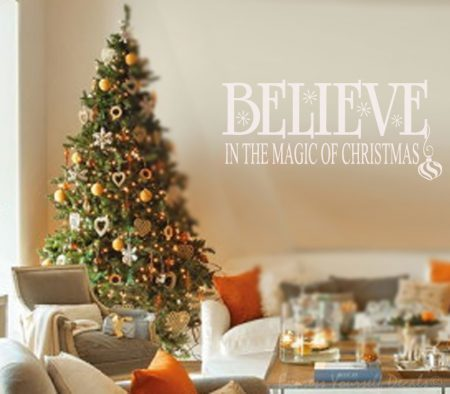 Believe wall art decal sticker