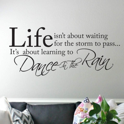 Dance in the rain wall decal sticker