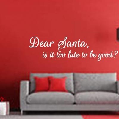 Dear Santa wall decal sticker