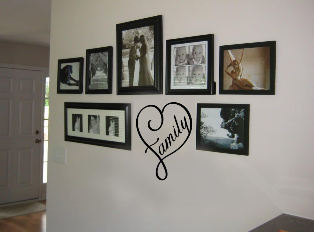 Family heart wall decal