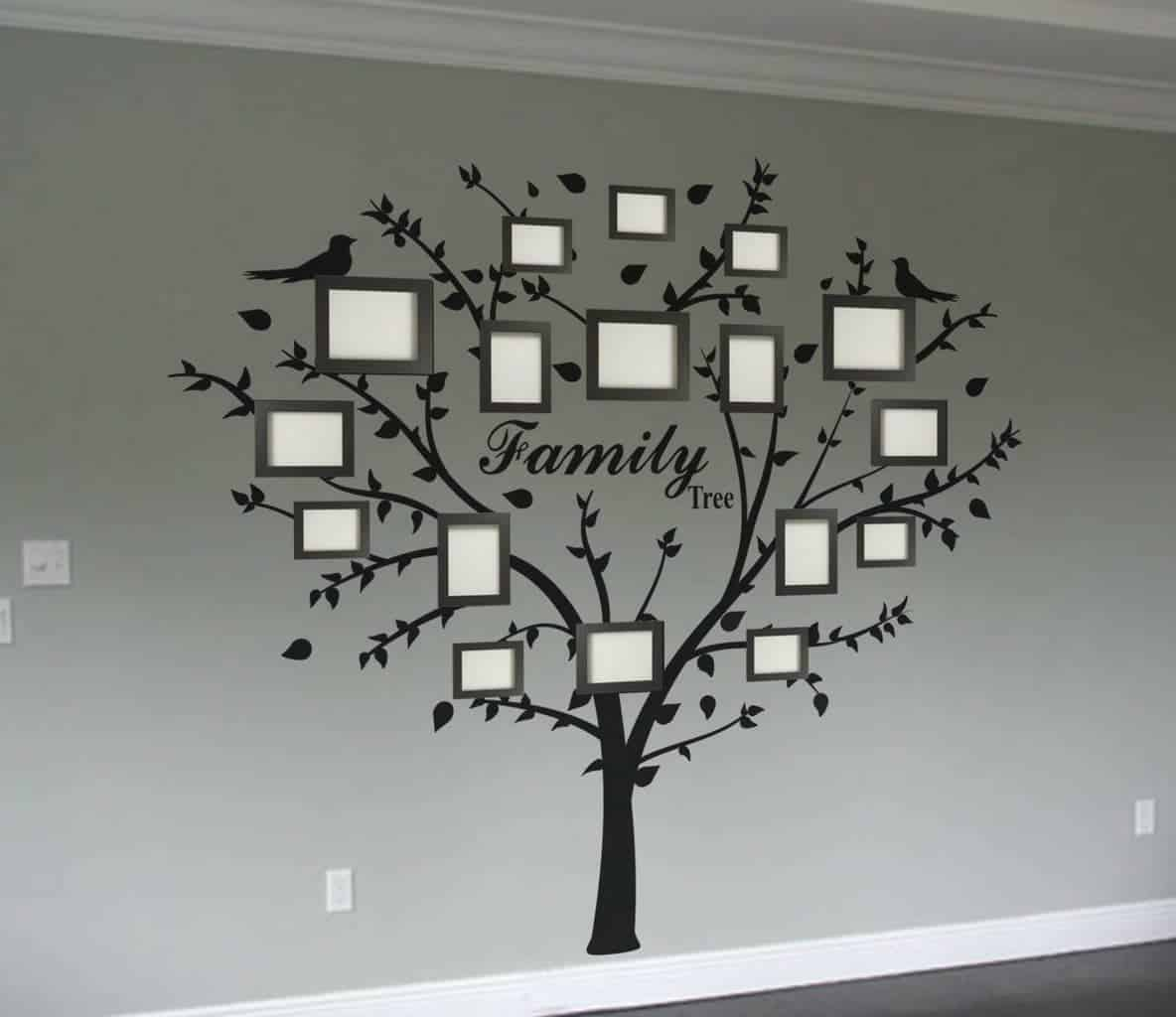 Family photo tree wall decal | wall decal sticker tree, wall decals