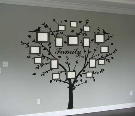 Family photo tree wall decal   wall decal sticker tree, wall decals