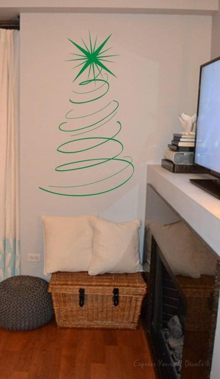 Christmas tree wall decal sticker |