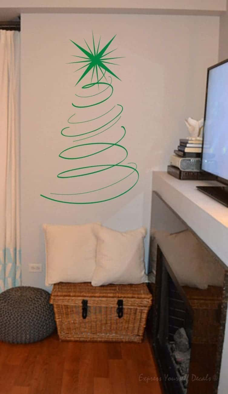 Christmas tree wall decal sticker