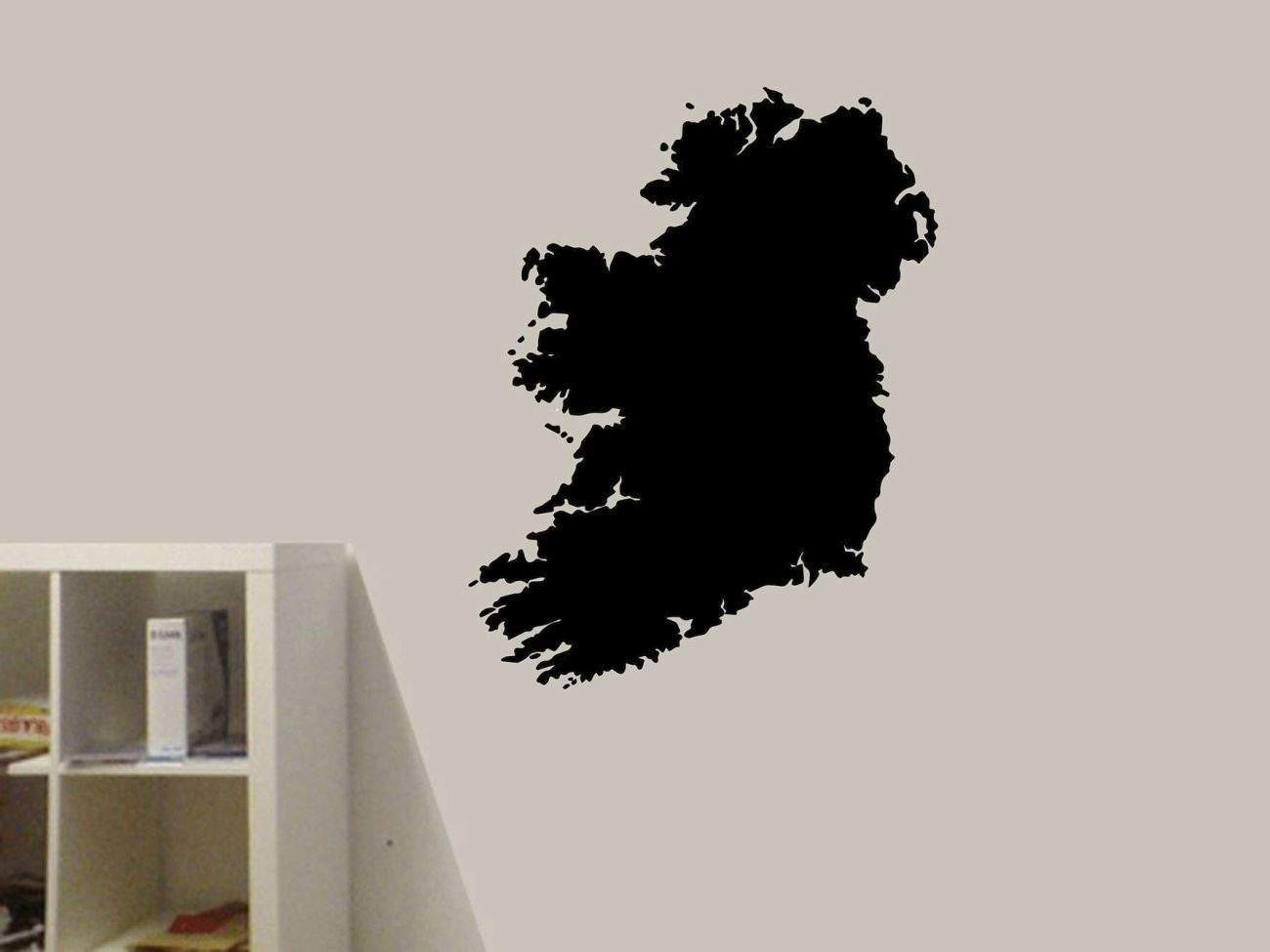 Ireland map wall art decal