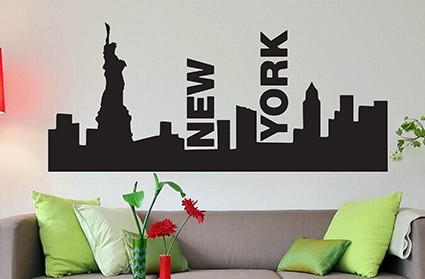 New York wall art decal