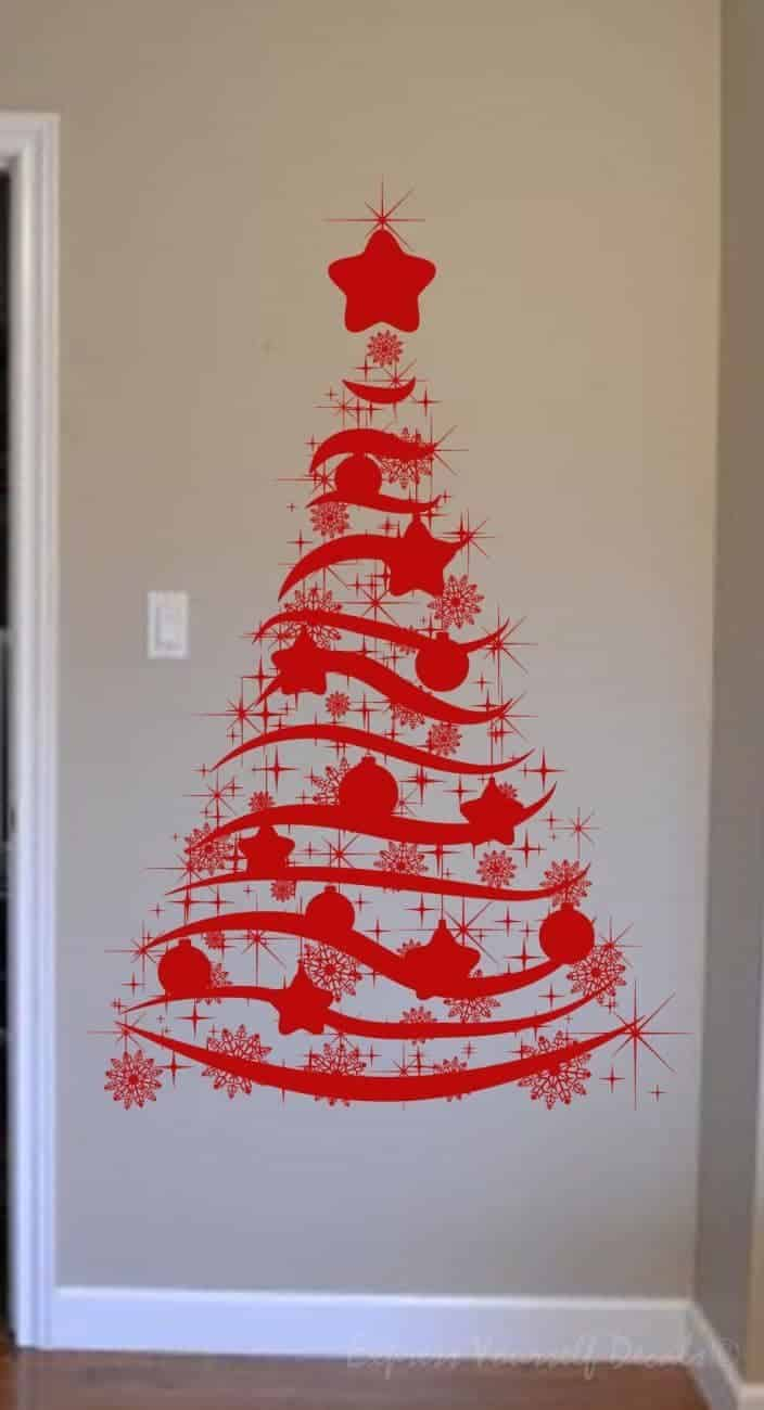 Christmas tree decal sticker