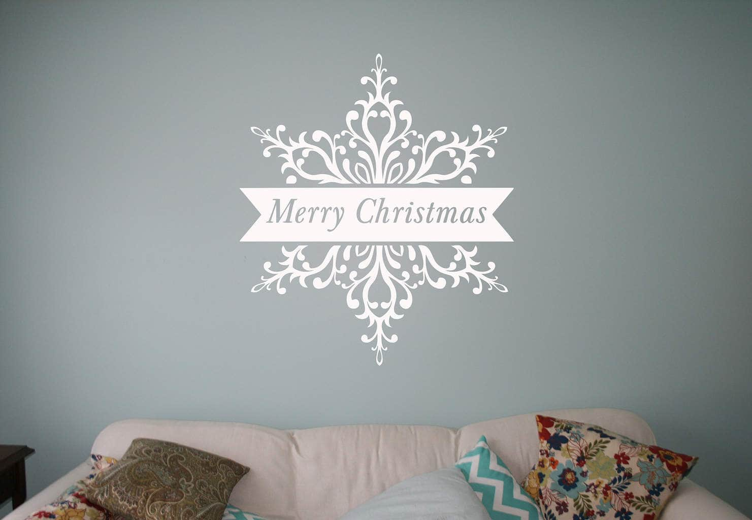 snowflake wall art decal sticker wall art decal sticker. Black Bedroom Furniture Sets. Home Design Ideas