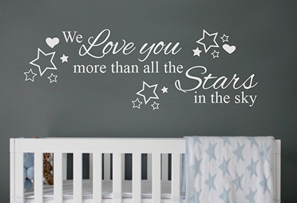 We love you more wall decal sticker