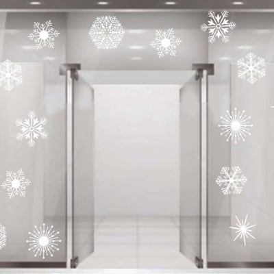 Snow flakes decal sticker