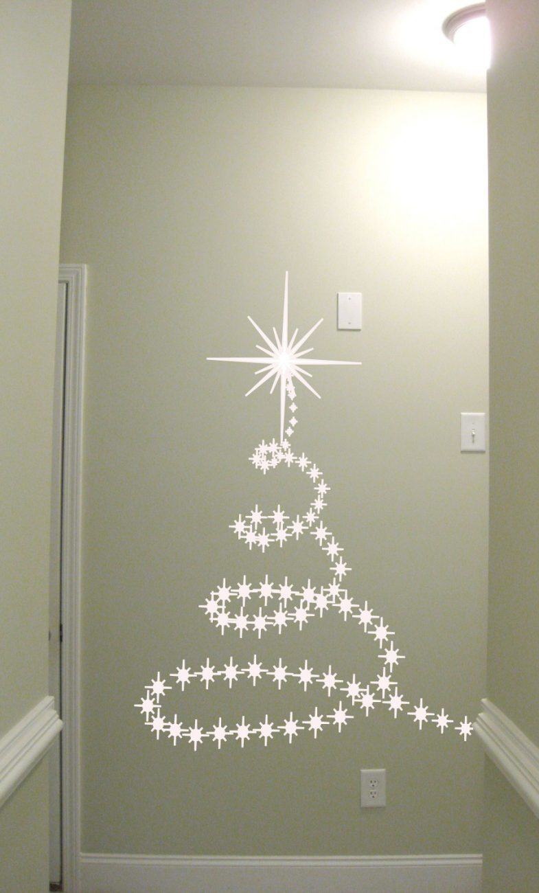Christmas tree wall art decal sticker