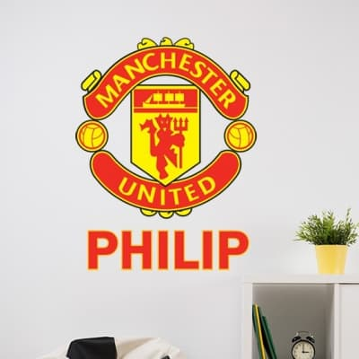 Man United crest personalised wall decal