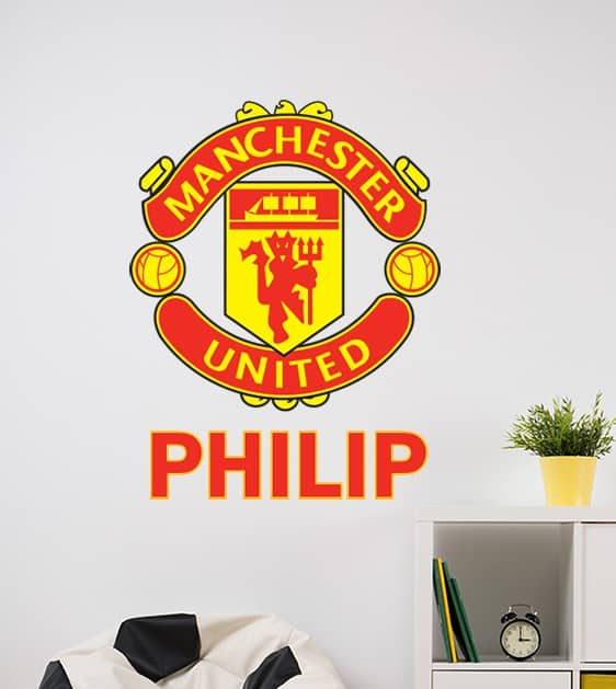 Man United Crest Personalised Wall Decal Part 82