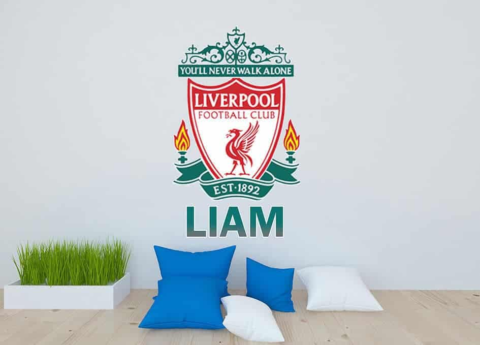 Liverpool crest personalised wall decal