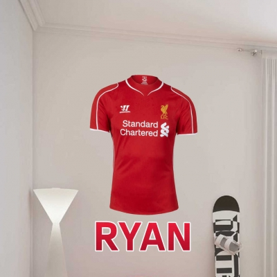 Liverpool Jersey personalised wall decal