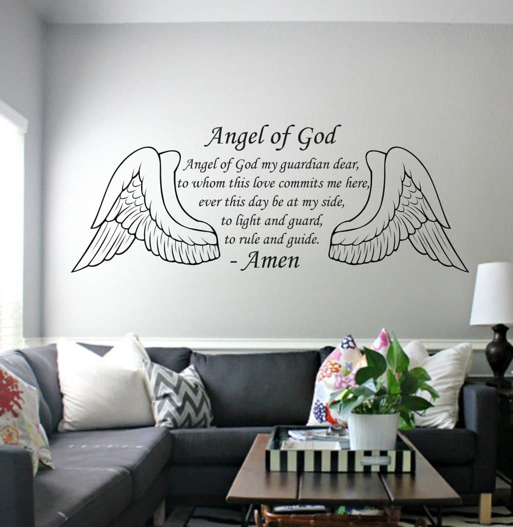 Angel of God wall art decal sticker