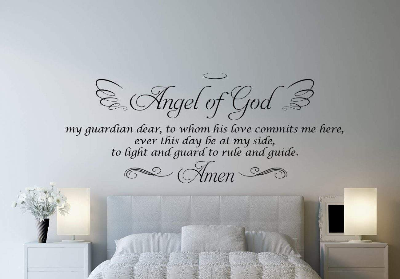 Angel of God wall decal sticker