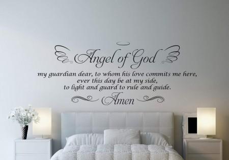 Angel of God wall decal sticker