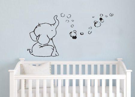 Baby elephant wall decal sticker