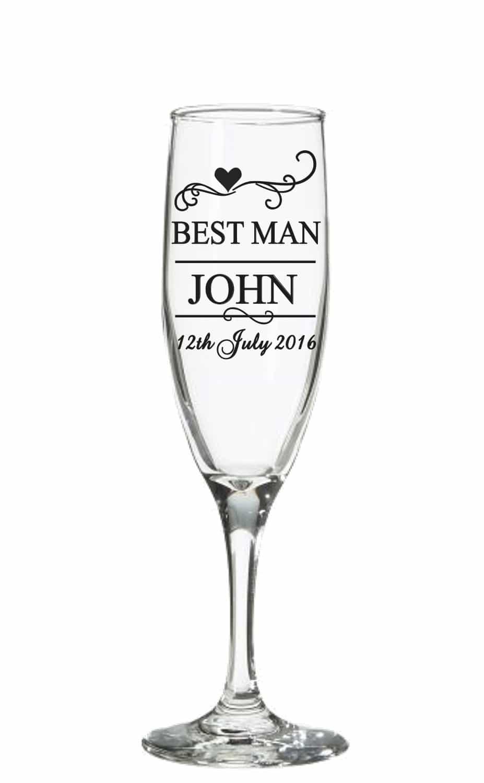 Wedding Champagne Glass Decal Sticker Wedding Decal