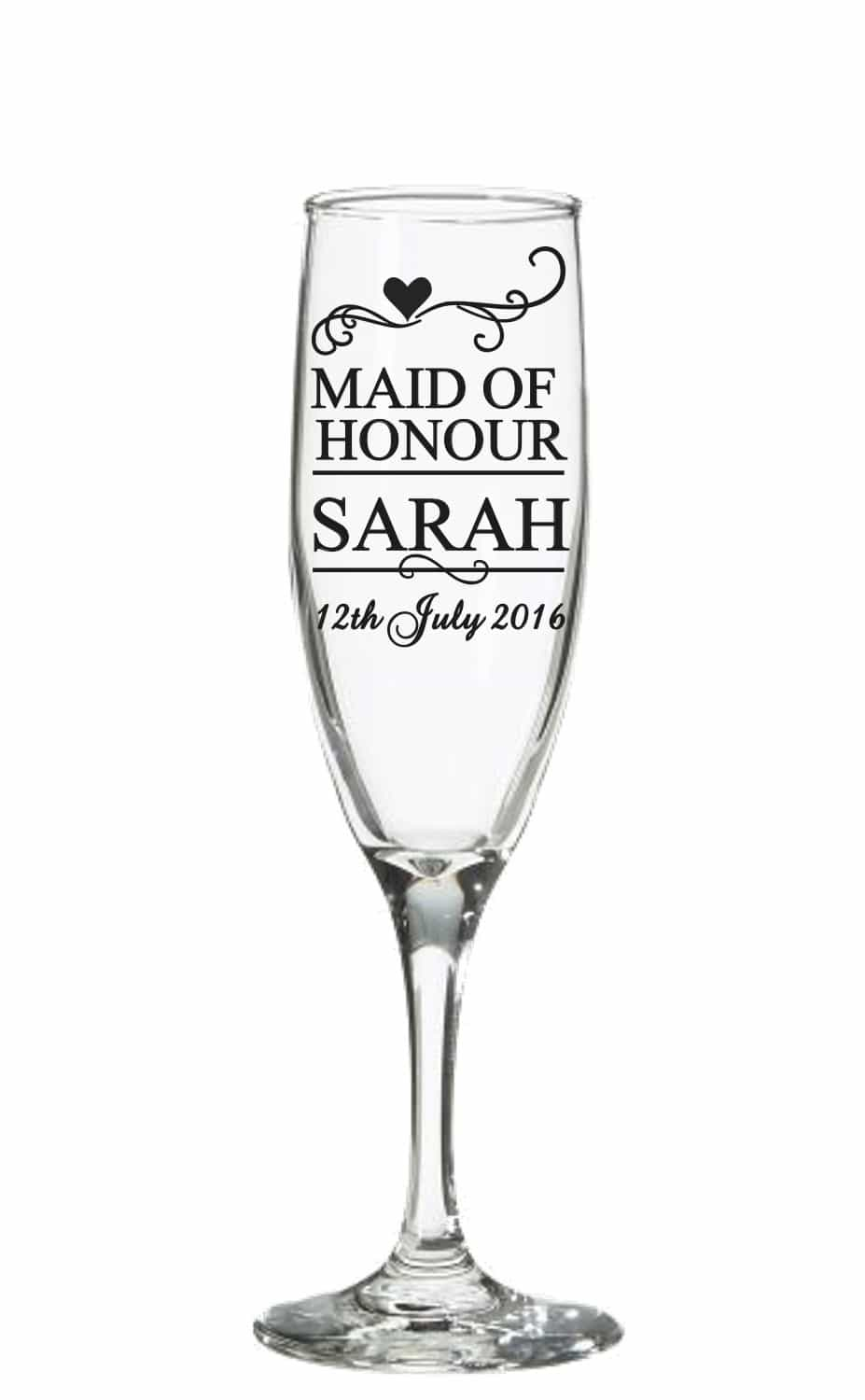 Wedding Champagne Glass Decal Sticker Wedding Decal