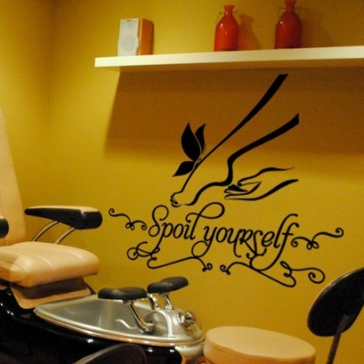 Pedicure wall decal sticker