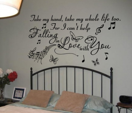 Falling in love wall decal