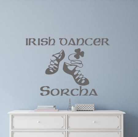 Irish dancer personalised wall decal sticker