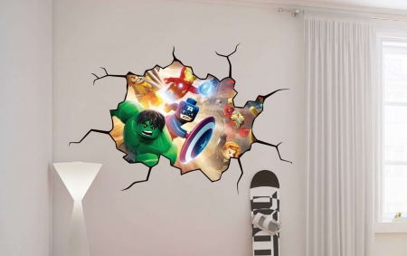 Avengers Lego wall decal graphic