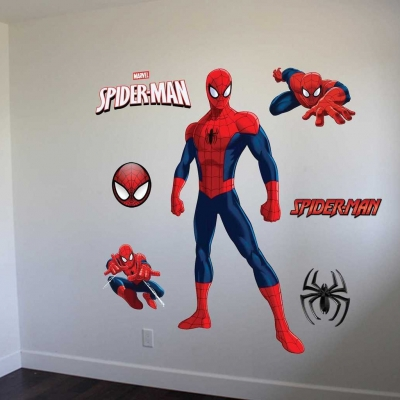 Spiderman wall decal graphic