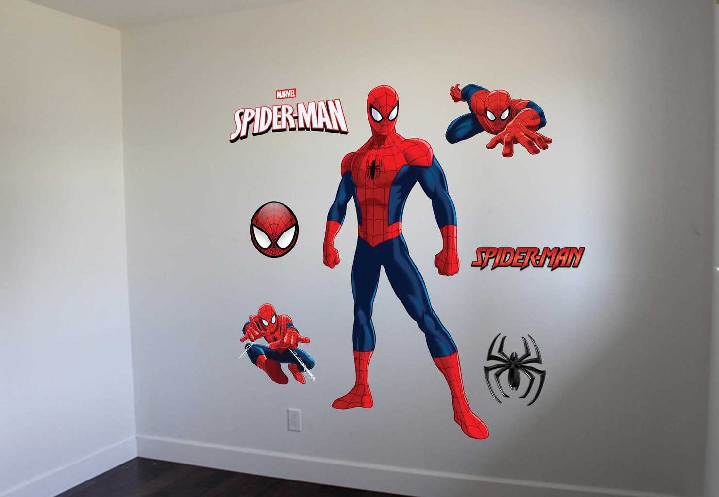 Genial Spiderman Wall Decal Graphic