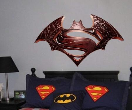 Batman Vs Superman logo wall decal graphic