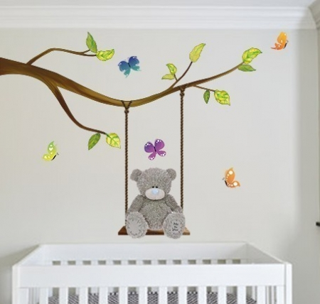 Tatty teddy swing wall decal graphic