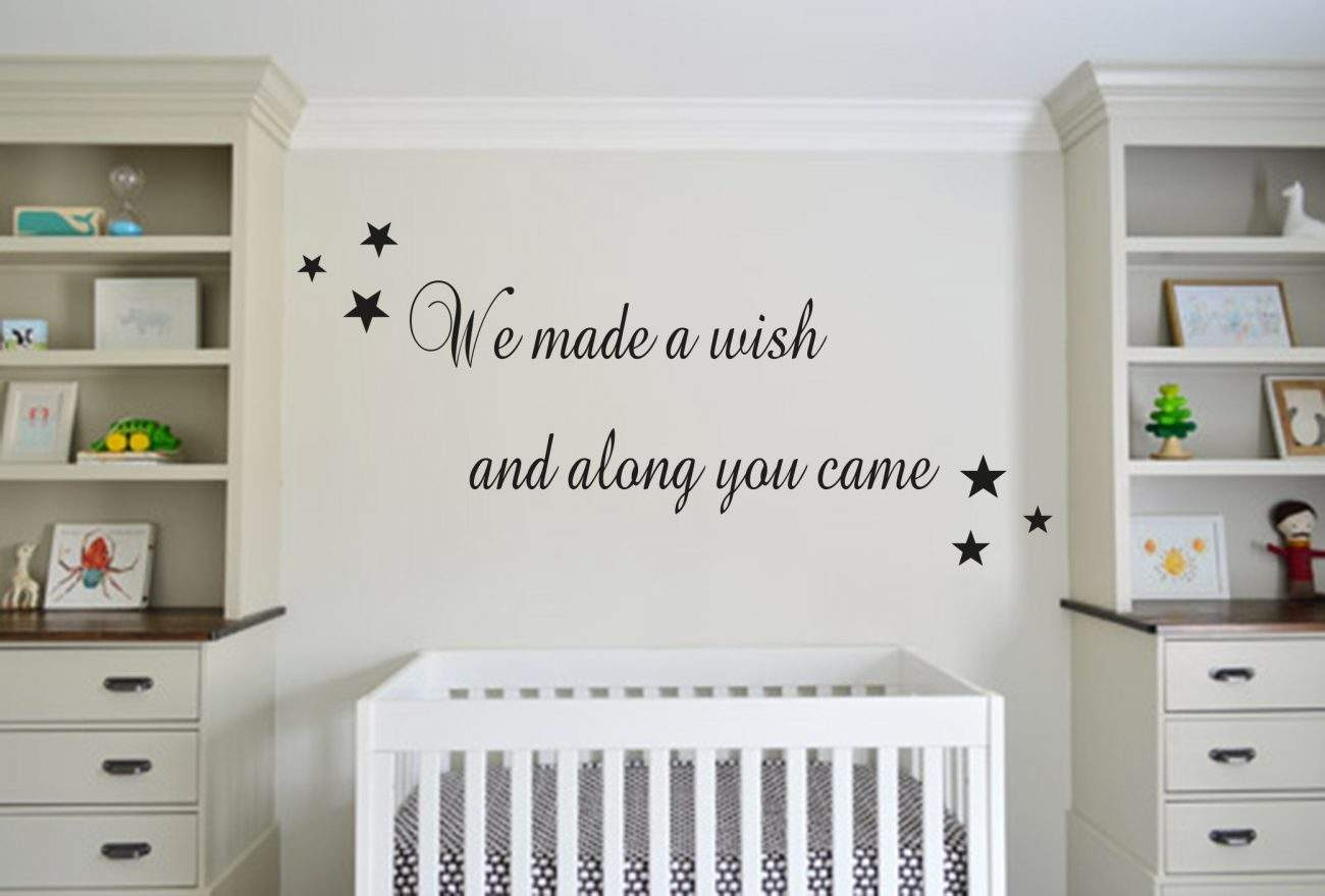 We made a wish wall decal