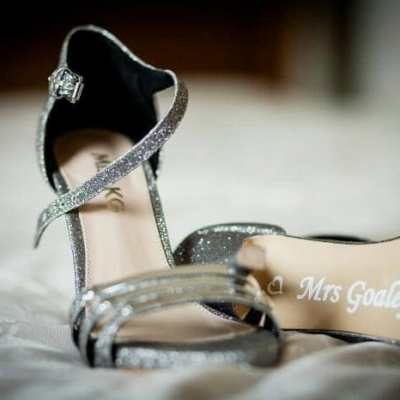 Wedding shoes decal sticker