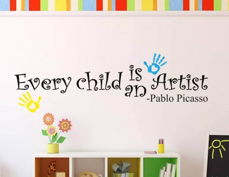 Every child is an artist wall decal sticker