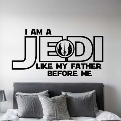Star Wars Jedi wall decal