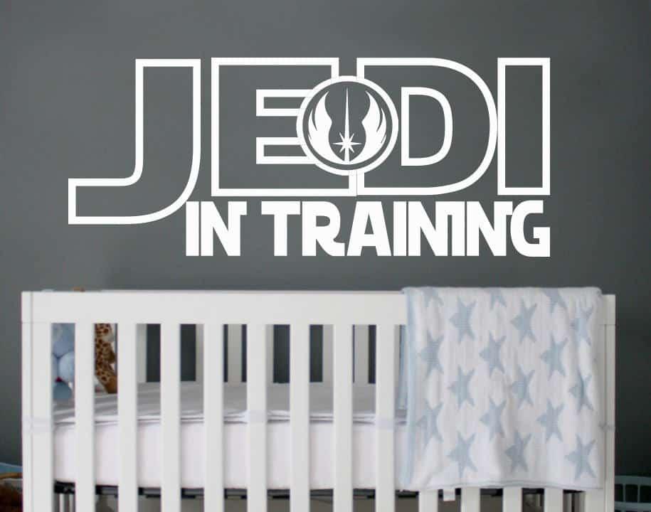 Star Wars Jedi in training wall decal