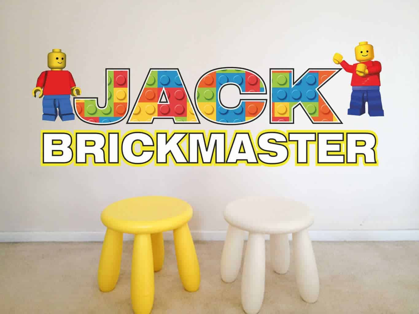 Get Your Name in Lego Effect by EY Wall Decals