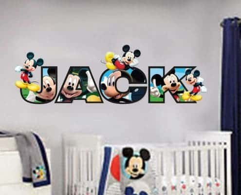 Personalised name mickey mouse