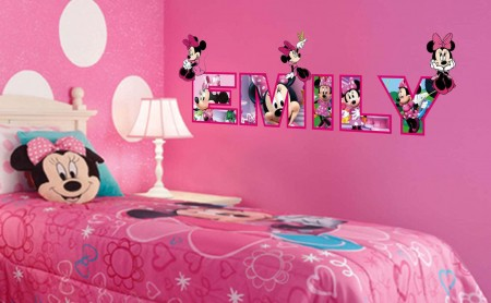 Personalised name minnie mouse